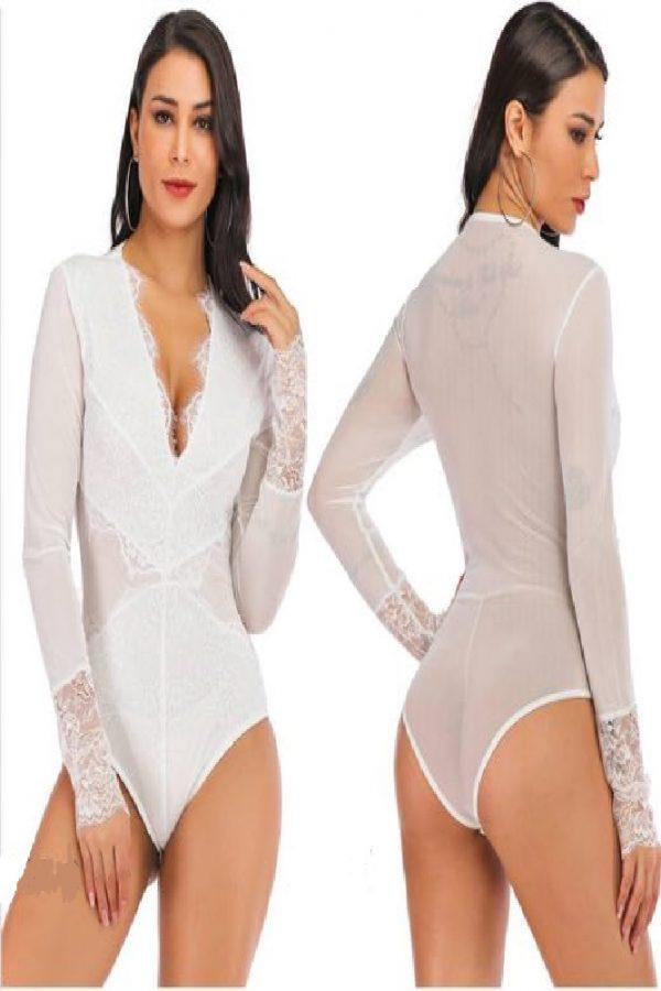 Long sleeve mesh body suit