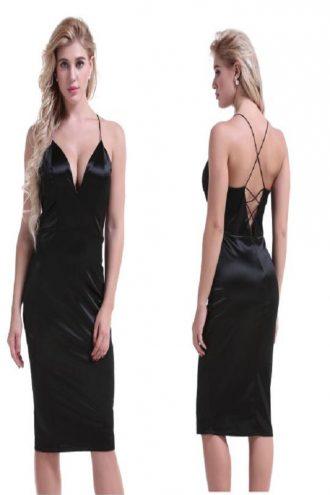 Plain and simple but so elegant dress.Its a medium length silk dress.