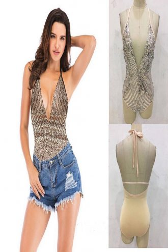 full sequins body suit